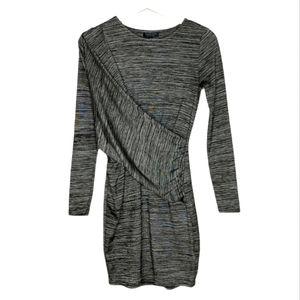 TOPSHOP Front Drape Criss Cross Faux Wrap Dress 4